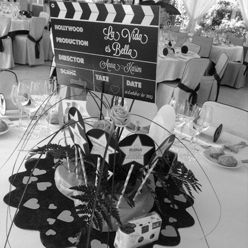 decoración de bodas - A&K
