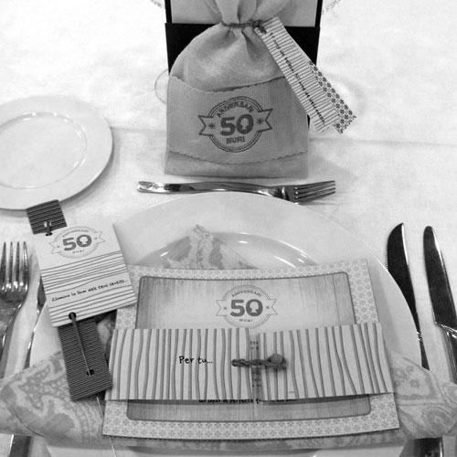 decoración fiesta aniversario - 50 años