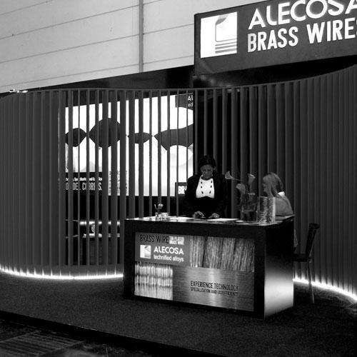 diseño y construcción stand - Alecosa Feria Wire Düsseldorf 2014