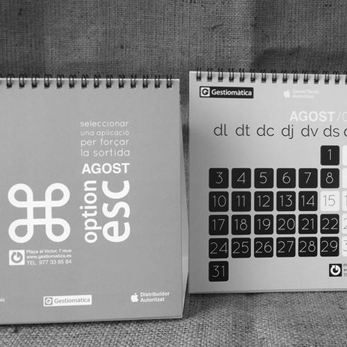 diseño de calendarios - Gestiomàtica 2015